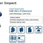 Bor Impact Bosch GSB 180-LI Professional Cordless