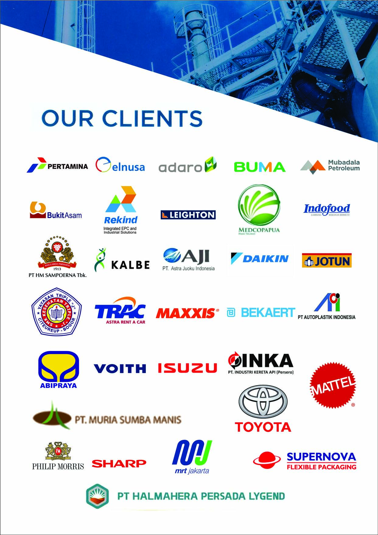 our client brenson citra abadi 2020